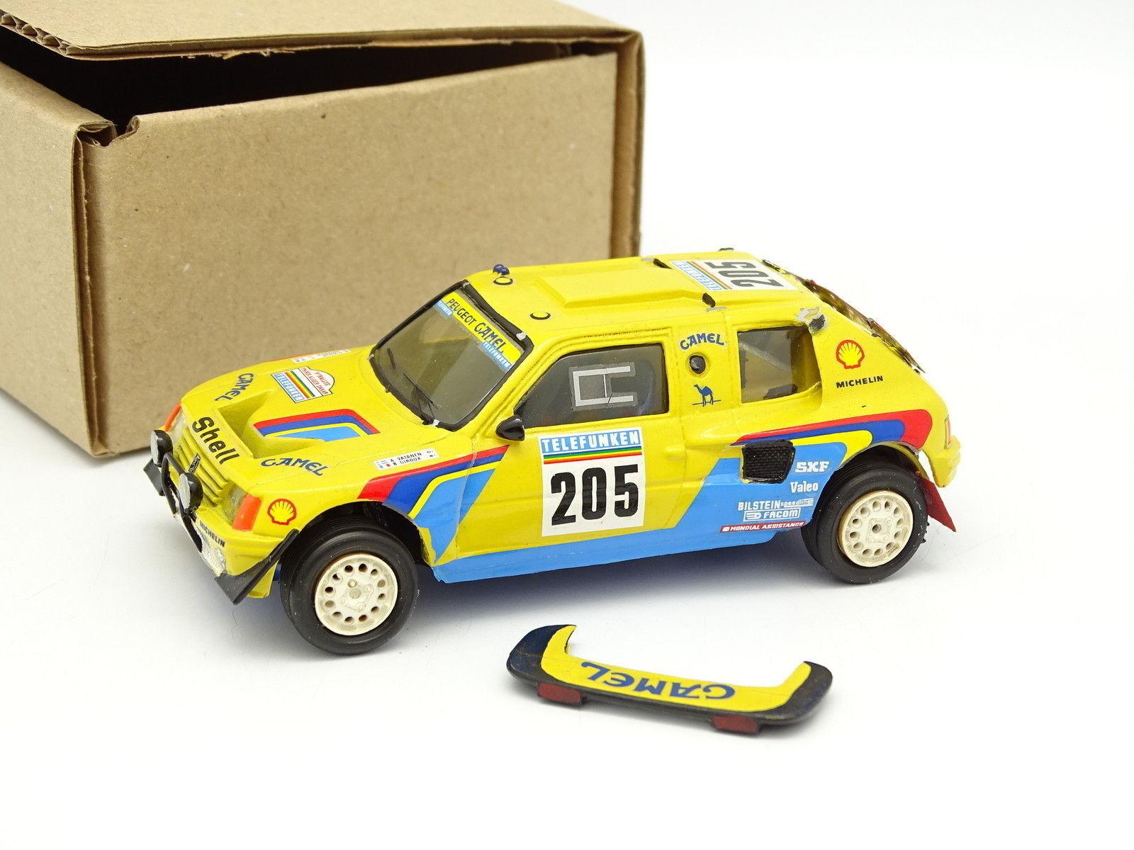 Provence Moulage Set Aufgebaut 1 43 - Peugeot 205 T16 Nr. 205 Rallye Paris Dakar
