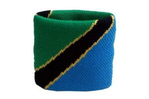 Schweisband-Drapeau-Drapeau-Tanzanie-2er-Set-7x8cm-bracelet-de-sport