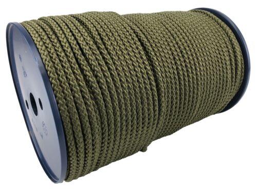 6 MM OLIVE Tressé Polypropylène Corde X 30 Mètres Paracord Cordon De Camping
