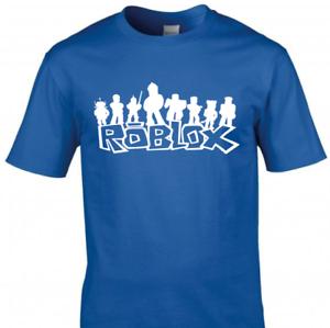 Roblox Kids T-Shirt Girls Boys Gaming Gamer Tee Top (White Print)