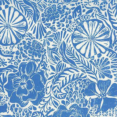 Horizon 27190-13 Flora Ultramarine Priced per ½ Yard Moda Fabrics by Kate Spain