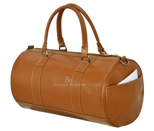 Men/'s Leather Weekend Bag Tan Duffel Travel 100/% authentique émail Holdall 9098