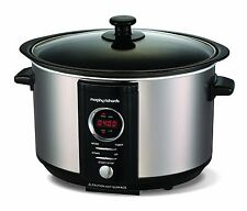 Morphy Richards Accents Slow Cooker - Brushed Steel - 460004