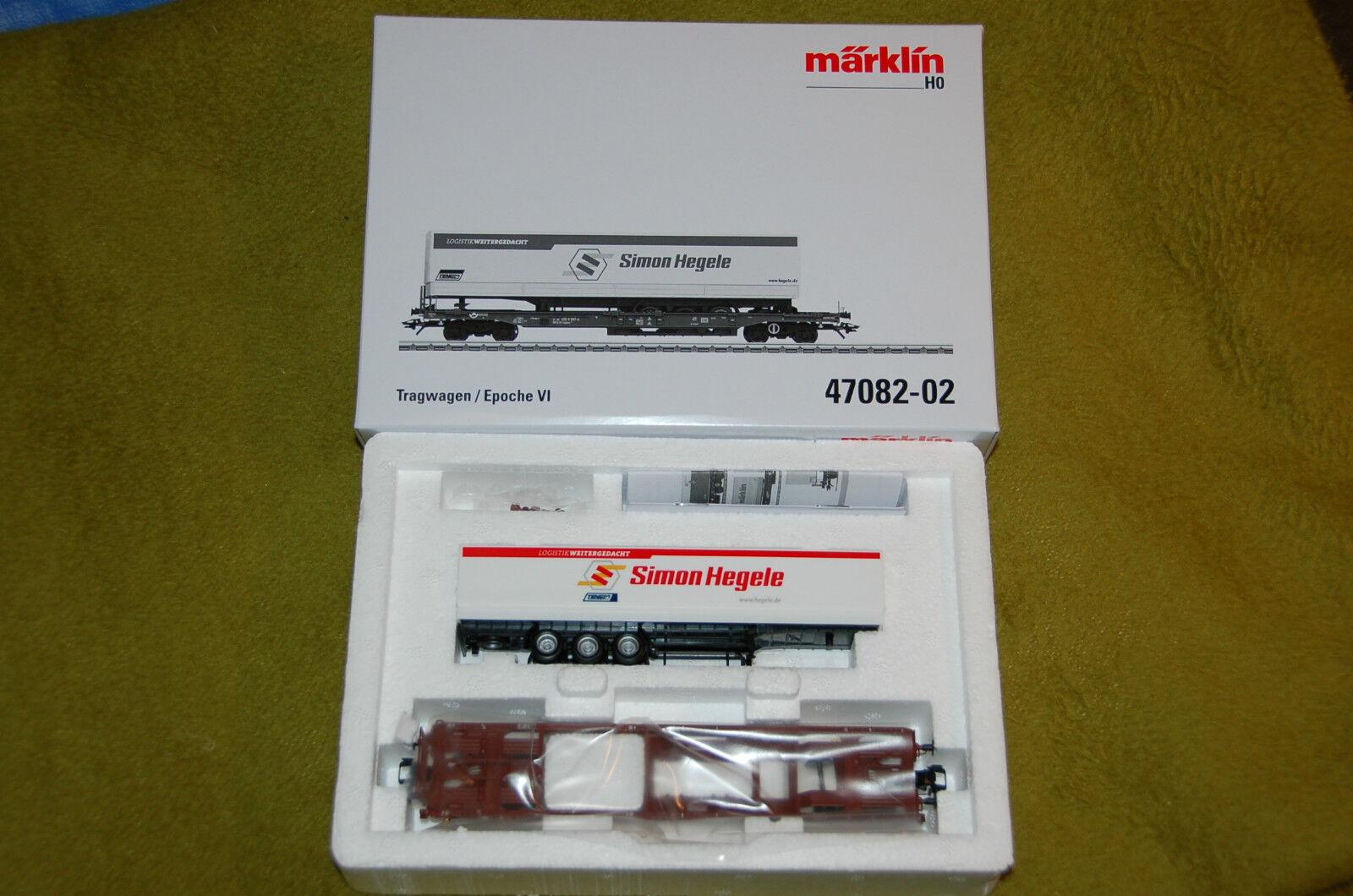 Märklin 47082-02 tasche carrello con Sattelauflieger