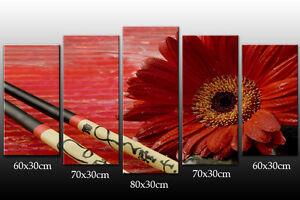 DEKOART-BILDER-WANDBILD-SUSHI-BAR-LEINWAND-BILD-150-80cm