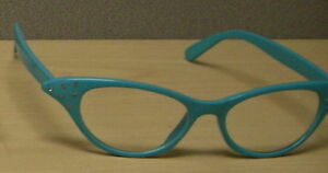 9fa3ed42783 Image is loading TURQ-clear-Cat-Eye-Glasses-only-6-95-