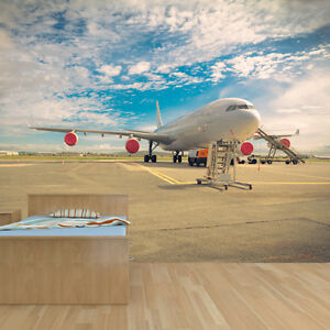 Jumbo Jet Plane Photo Wallpaper Mural Bedroom Design Wm158