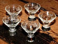 SET 5 Cognacgläser Aperitif transp. Lausitz Bleiglas Bleikristall Bleiglasgläser