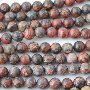 Natural-Leopard-Skin-Jasper-Semi-Precious-Gemstone-Round-Beads-4mm-6mm-8mm-10mm