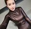 Womens-Vogue-Slim-Warm-PU-Leather-Tops-Casual-Turtleneck-Blouse-Plus-Shirt-New thumbnail 9