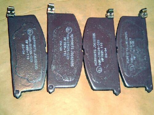 Starlet front Paseo Disc brake pads Sera Toyota MR2 mk1 4 pad set