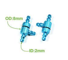 2pcs Aluminum RC Nitro Fuel Spliter Filter for ø2-ø3.5mm tubing, US 005-01205A