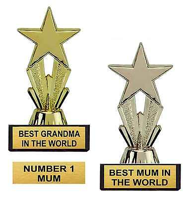MOTHERS DAY BIRTHDAY MUM GRANDMA NAN STAR TROPHY GIFT