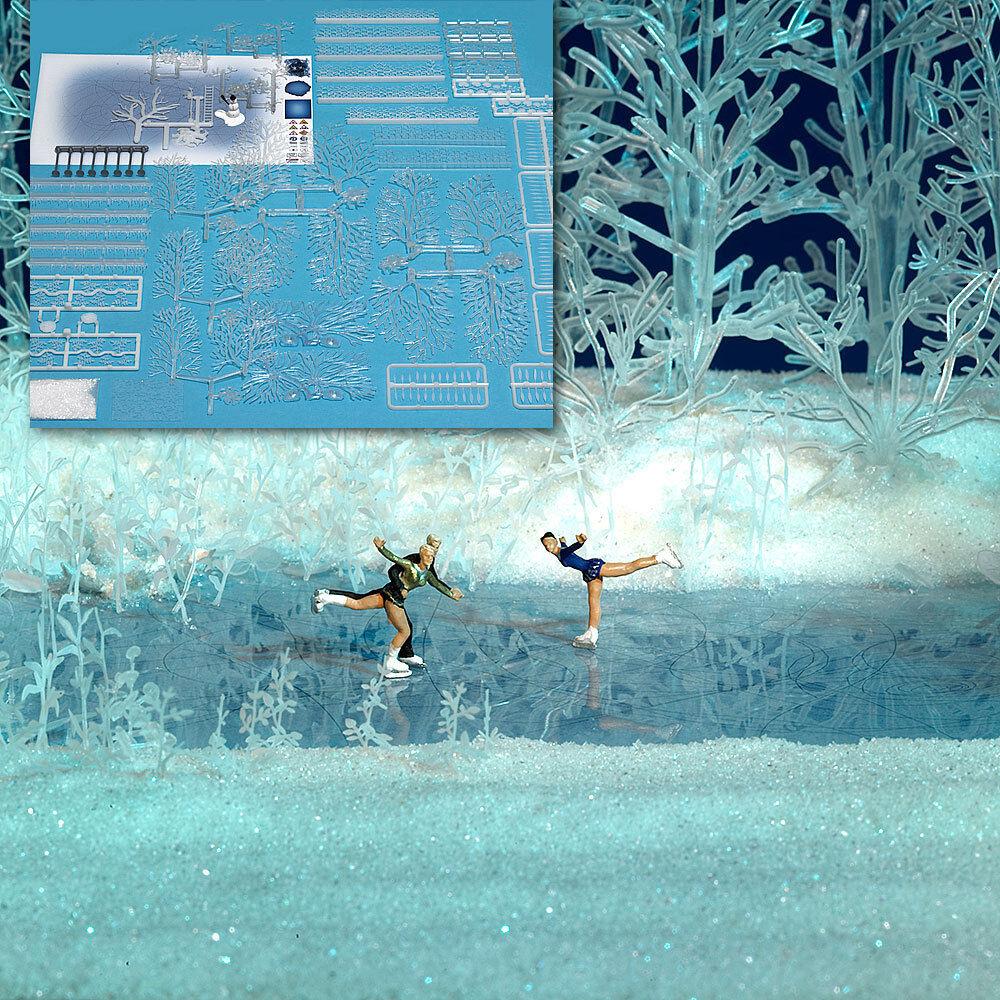 OO HO Invierno Paisaje - Frosty MIRA Plantas & árboles - Busch 1225 P3