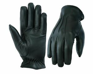 MENS-DRIVING-GLOVES-UNLINED-TOP-QUALITY-SOFT-GENUINE-REAL-LEATHER-GOATSKIN-BLACK