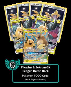 1x-League-Battle-Deck-Pikachu-amp-Zekrom-GX-TCGO-PTCGO-TCG-Online-Codes-Sent-Fast