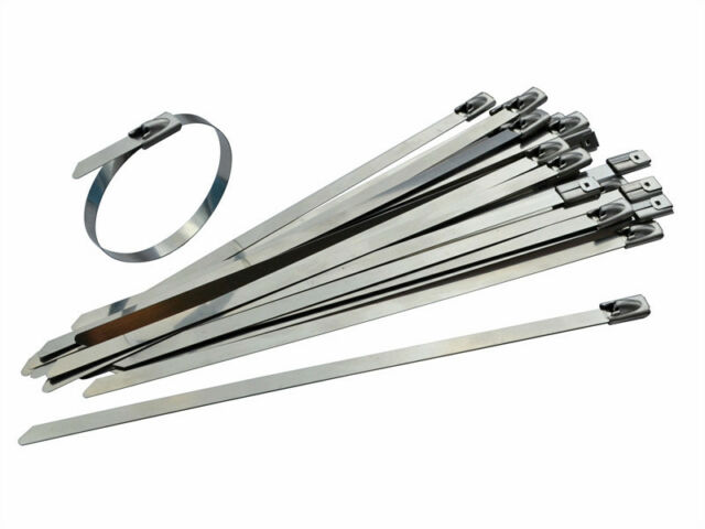 STAINLESS STEEL 316 GRADE WRAP-A-ROUND CABLE TIES - Packs of 50 - Various Sizes