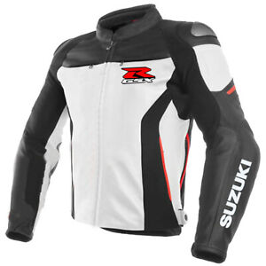 Suzuki-GSXR-Motorcycle-Jackets-Biker-Racer-Leather-Motorbike-Sport-Armor-Adults