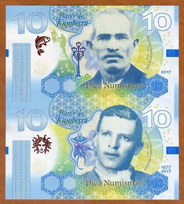 Kamberra, 10 + 10 Numismas, 2017, Uncut sheet, only 50 pcs issued, Private Issue