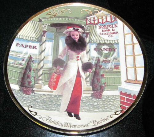 Hallmark Holiday Memories Barbie Doll Victorian Christmas Collection Plate w Box