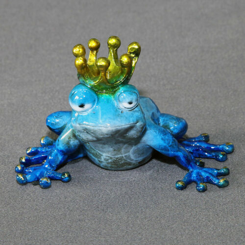 "BRONZE /""FROG PRINCE/"" FIGURINE STATUE SCULPTURE  AMPHIBIAN ART Limited Edition"