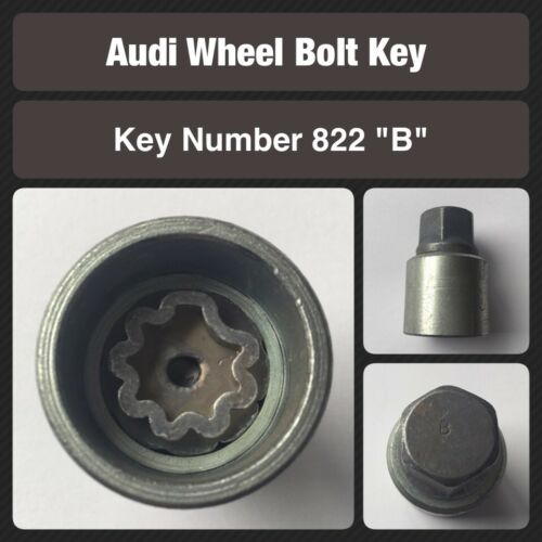 Stamped B Nut Key 822  2010  Onwards Genuine Audi Locking Wheel Bolt