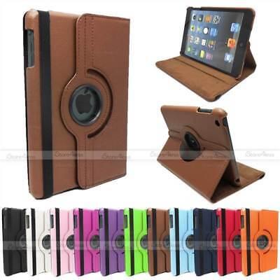 360 Gradi Pu Pelle Rotante Stand Case Per Ipad Mini 3 2 1 Wake / Sleep Cover-mostra Il Titolo Originale