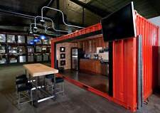 20FT 14.5㎡custom shipping container house home office cabin 415USD/square meter