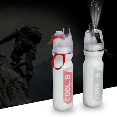 500ML Bicycle Water Bottle Spray Cup Sports Cold Insulation Spray Kettle US