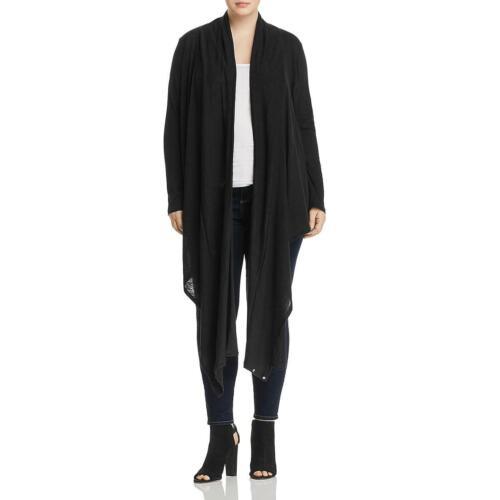 Elan Women/'s Plus Size Two-Way Open Front Cardigan Sweater