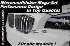 Nierenaufkleber weiß für BMW M3 M5 E60 E61 E90 E91 E92 E93 E88 F20 Sticker Paket