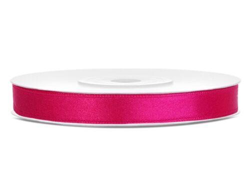 0,04€//m Dekoband Geschenkband Band . 25m Rolle SATINBAND  6 mm x 25 m