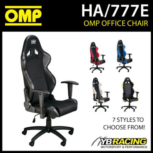 HA/777E OMP RACING SEAT WHEELED OFFICE CHAIR SEAT ON WHEELS inc BASE!
