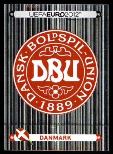 195 Panini euro 2012-Insignia-Danmark Dinamarca no