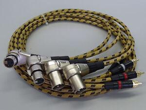 4x1-5-Meter-Winkel-Profi-XLR-Cinch-Kabel-fuer-Revox-PR99-Studer-A810-A807-C270