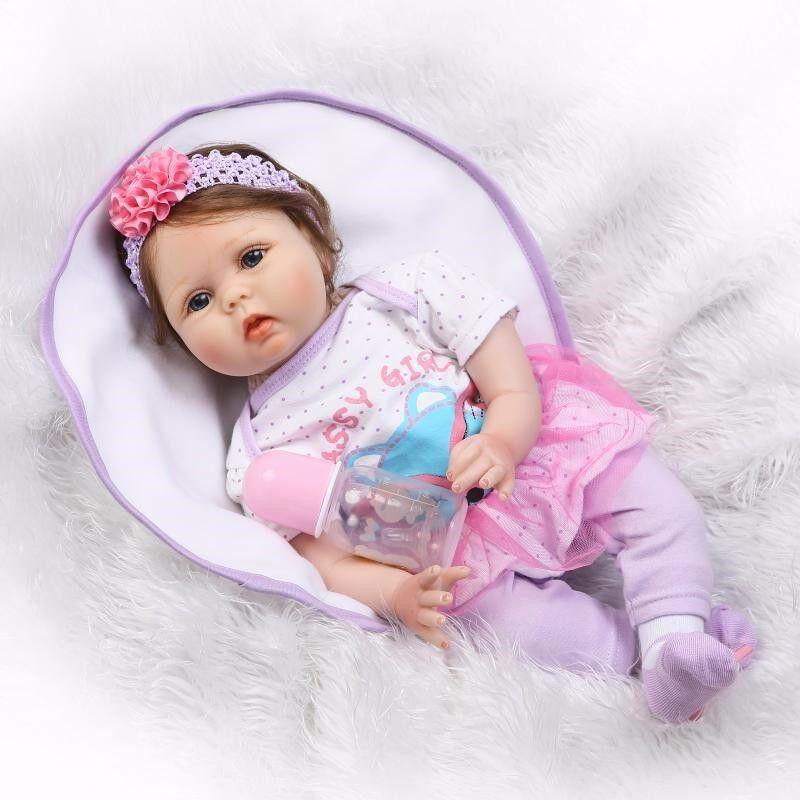 @Handmade 22  realista Reborn Bebé niñas Muñeca De Juguete De 2019 recién nacido de vinilo de silicona
