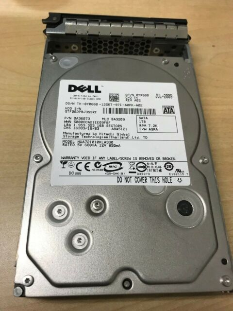 DELL J317F 1TB 7.2K 3.5 SATA HDD Certified Refurbished