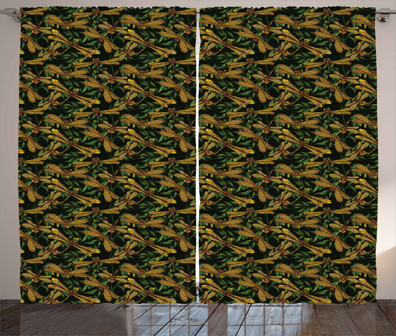 Dragonfly Cortinas 2 panel conjunto para la decoración del hogar 5 Tamaños Disponibles Ventana Cortinas