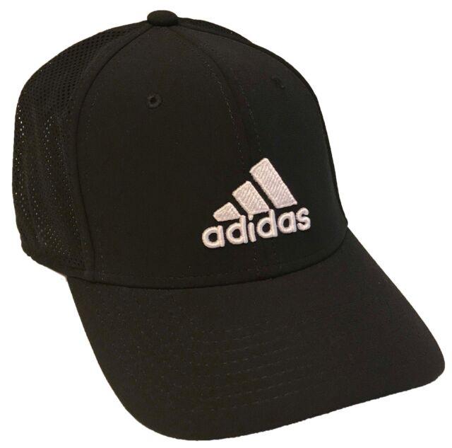 5c3ad817004 adidas Adizero Stretch Fit Climalite Black Mesh Hat Cap Size -s m ...
