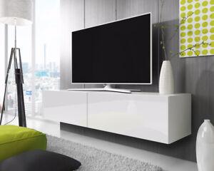 Details Sur Meuble Tv Meuble De Salon Point 100 140 160 2x100 Cm A Suspendre Style Moderne