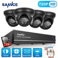 SANNCE 8CH 1080N 4in1 DVR 1500TVL Home Surveillance Security Camera System 1TB