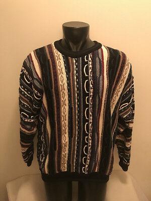 Vtg North Wales Sportswear Multi Color Textured 3D Biggie Cosby Sweater Mens XL   eBay