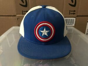 d4564e354857e New Era Marvel Comics Captain America 59Fifty Fitted Hat Size 7 1 2 ...