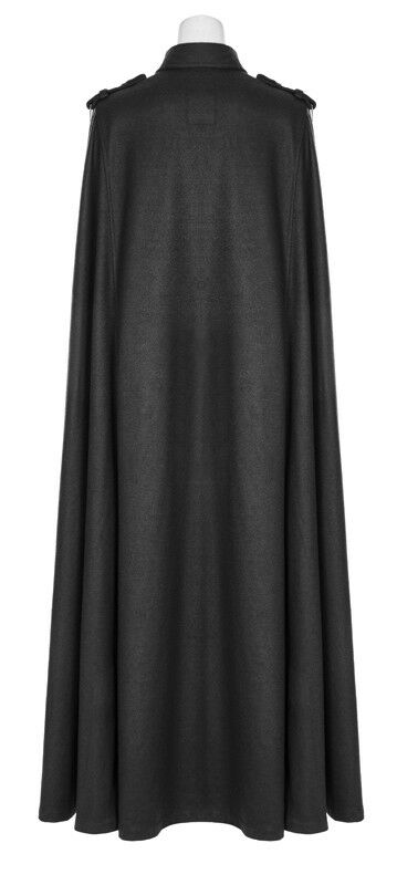 Cape manteau long long long gothique lolita burlesque militaire boutons ceinture Punkrave e43cf8