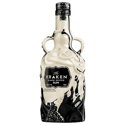 The Kraken Limited Edition Ceramic Black Spiced Rum 700mL bottle