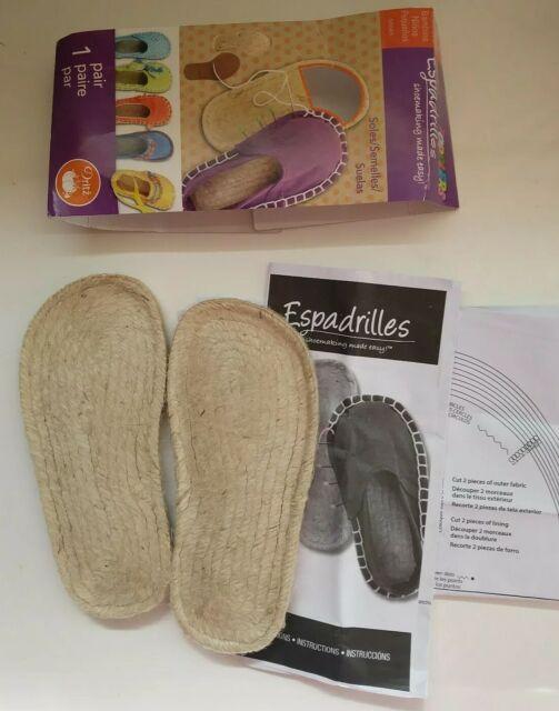 Size 8 Dritz Espadrilles Adult Soles /& Pattern