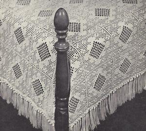 Vintage Crochet PATTERN Filet Popcorn Square Motif Block ...