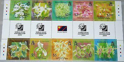 Briefmarken Unparteiisch Solomon Salomon Isl 2004 1139-48 975 Gutter Orchideen Local Orchids Blumen Mnh StraßEnpreis