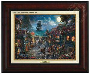 Thomas Kinkade Pirates Of The Caribbean Canvas Classic Burl Frame