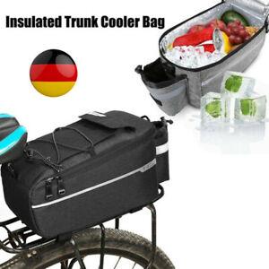Gepäckträger Tasche Double für Fahrrad Fahrradtasche Gepäcktasche schwarz DHL DE